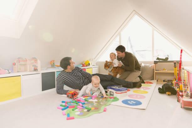 Combles aménagés en salle de jeux pour enfants